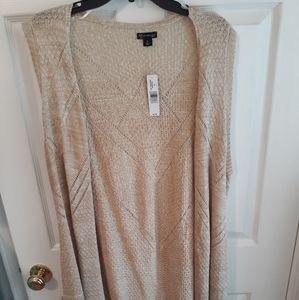 Plus size crochet cardigan vest